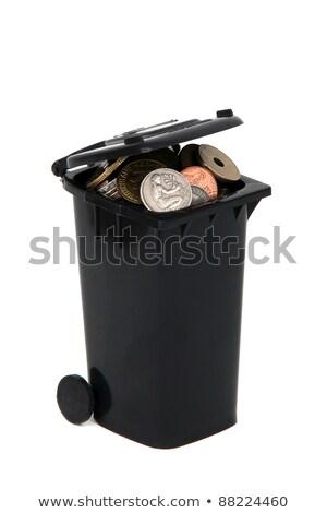 黒 · ごみ · ヨーロッパの · コイン · 白 - ストックフォト © pterwort