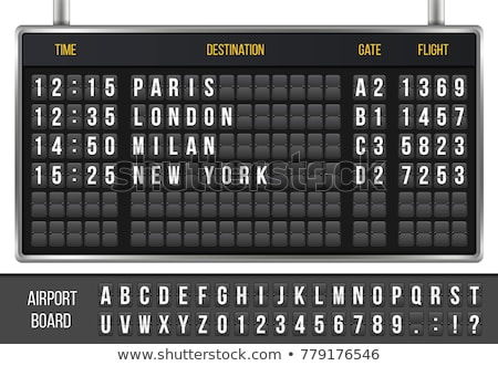 An electronic airport airplane departures board. Stock photo © latent