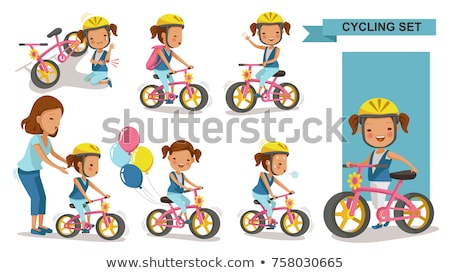 girl on bike with safety helmet Stock photo © photography33