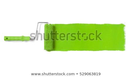Zöld festék tekert fehér munka ecset Stock fotó © nmarques74