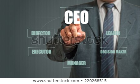 Siglas CEO jefe ejecutivo oficial escrito Foto stock © bbbar
