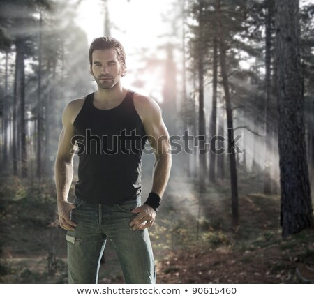 Hunk outdoors Stock photo © curaphotography