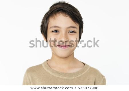 smile boy on white Stock photo © Paha_L