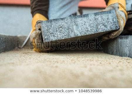 Rzemieślnik pracy kamień człowiek ściany technologii Zdjęcia stock © photography33