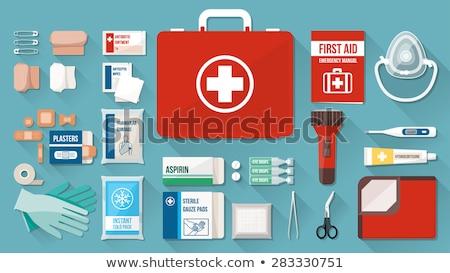 первая помощь повязка белый медицина стали инструментом Сток-фото © Grafistart