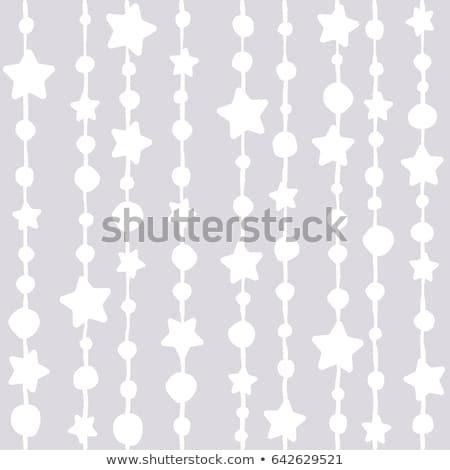 Absztrakt végtelenített fehér lila orgona végtelen minta Stock fotó © boroda