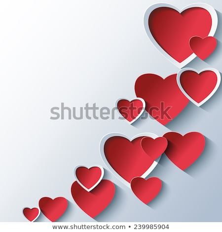 Valentines Border - Overlapping Hearts Stock photo © frannyanne