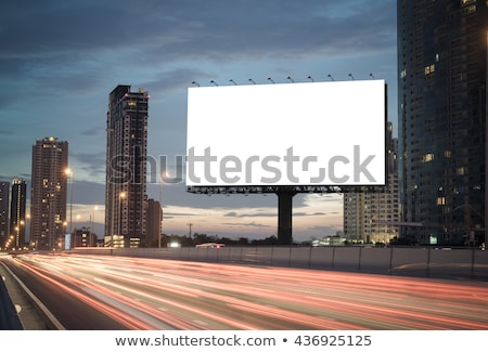 Billboard in the city. Stock photo © cozyta