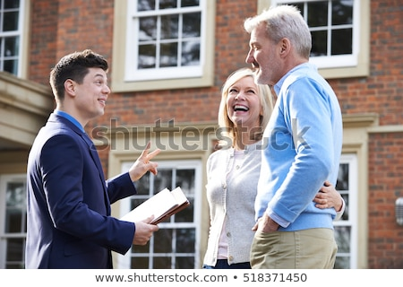 couple and realtor showing property Stock photo © photography33