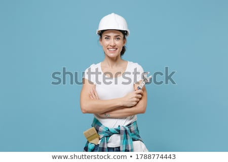 Woman with an adjustable spanner Stock photo © photography33