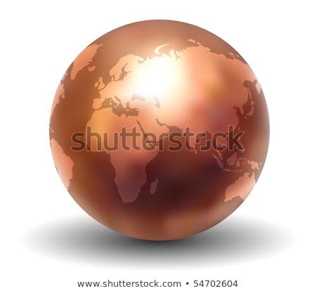 Cobre mundo textura diseno mundo Foto stock © rudall30