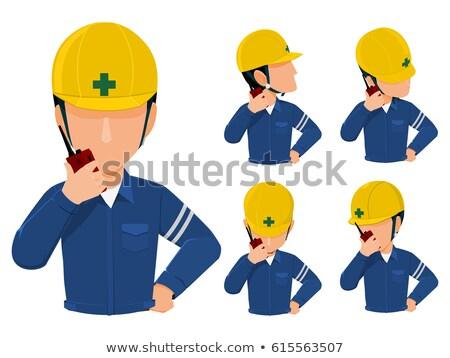 говорить · зеленый · работник - Сток-фото © broker