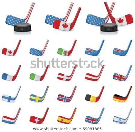 Hóquei cores grã-bretanha bandeira esportes Foto stock © perysty