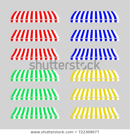 four different colored vector awnings stock photo © experimental