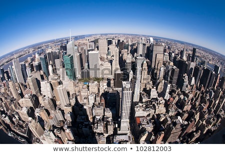New York stadsgezicht fisheye foto New York City Empire State Building Stockfoto © sumners
