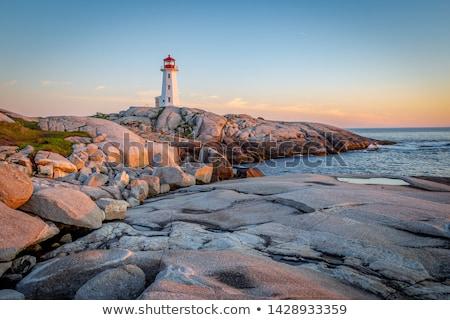 öböl világítótorony Kanada elvesz kép motorkerékpár Stock fotó © ca2hill