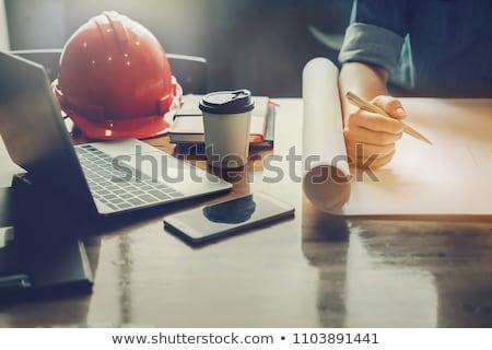 Architect inspecting model housing Stock photo © photography33