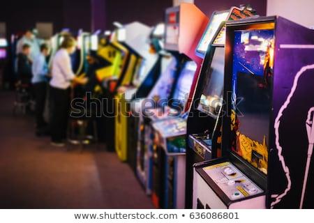 видеоигра машина изолированный белый фон красный Сток-фото © HectorSnchz