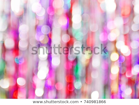 Abstract luci riflessione sfondo Natale vacanze Foto d'archivio © IMaster