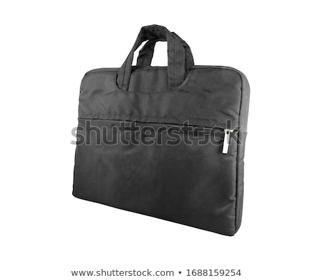 Black briefcase isolated on a white background stock photo © shutswis