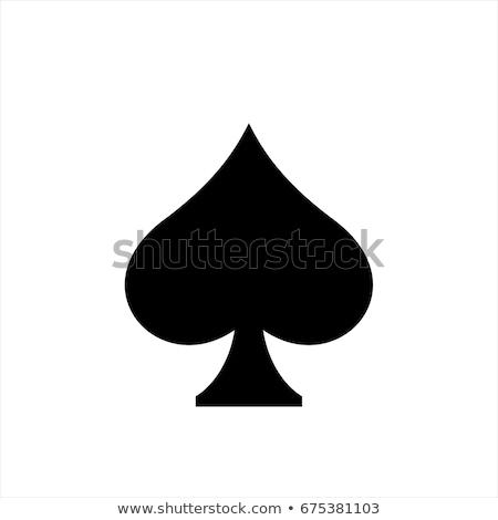 スペード 男 メタリック 孤立した ストックフォト © Stocksnapper