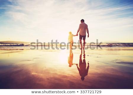 figlio · di · padre · spiaggia · cielo · amore · bambino · mare - foto d'archivio © photography33
