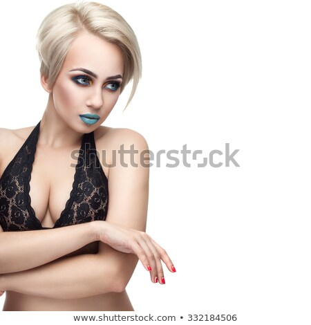 Glamorous busty blonde model Stock photo © dash