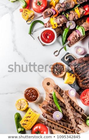 豚肉 · ピーナッツ · ソース · キュウリ · アジア · アジア - ストックフォト © m-studio