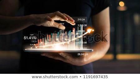 статистика · кнопки · современных · слово · компьютер - Сток-фото © tashatuvango