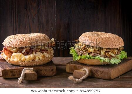 mesa · de · madera · alimentos · madera · frescos · saludable - foto stock © wavebreak_media