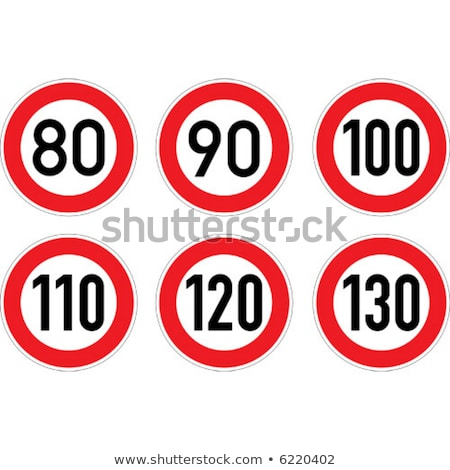 imzalamak · hız · limiti · sokak · doğum · günü · trafik · işaretleri - stok fotoğraf © Ustofre9