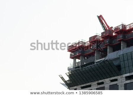 Absztrakt kép bonyolult egyezség fém rácsok Stock fotó © trgowanlock