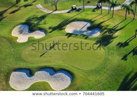út golfpálya természet tájkép klub labda Stock fotó © leungchopan