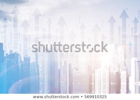 Foto stock: Seta · negócio · azul