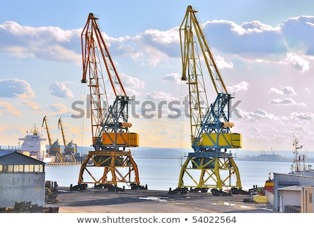 Wygaśnięcia budowy metal pomarańczowy niebieski przemysłu Zdjęcia stock © rufous