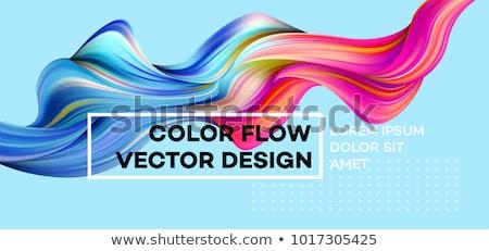 抽象的な カラフル 波 光 青 シルエット ストックフォト © rioillustrator