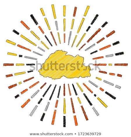 Vlag Bhutan hand kleur land stijl Stockfoto © claudiodivizia