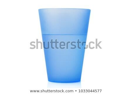Blue plastic glass stock photo © doupix