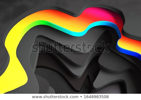 3d abstract shape fragmented in rainbow color backdrop  Stock photo © Melvin07