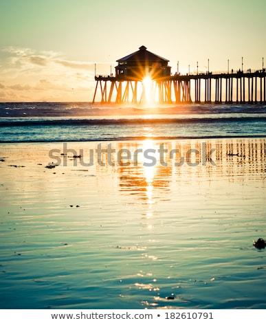pier · oceano · Havaí · céu · água · madeira - foto stock © EllenSmile