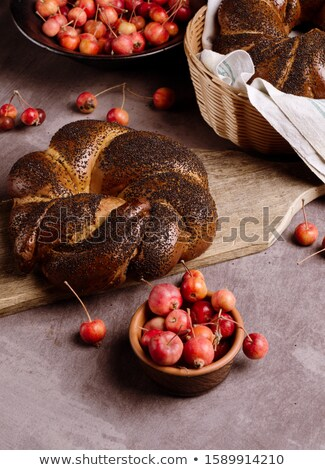 still life of poppy bread loaf in kitchen Stock photo © suti