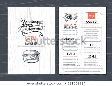 retro wood restaurant menu design stock photo © adamson