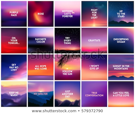 vibrant glowing sunset backdrop stock photo © wolterk