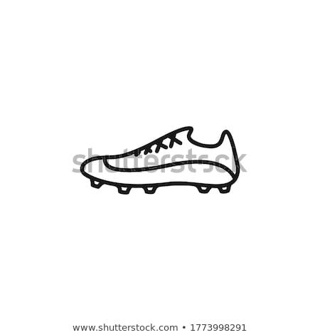 wandelen · schoenen · sneeuw · natuur · metaal · veld - stockfoto © marekusz
