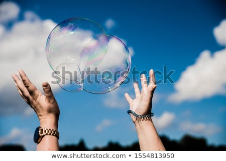 bolle · acqua · cielo · nubi · abstract · mare - foto d'archivio © dutourdumonde