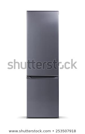 Inox background. Metal texture for fridge Stock photo © simpson33