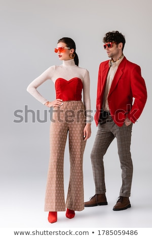man and woman fashion models looking away Stock photo © feedough