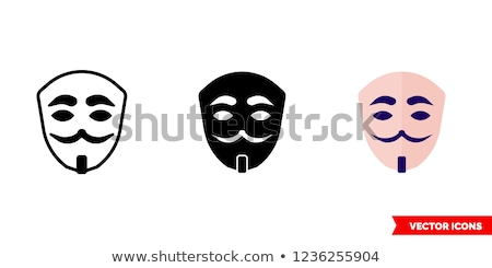 匿名の マスク 白 木材 レトロスタイル ビジネス ストックフォト © jarin13