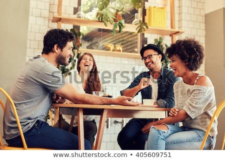 człowiek · biznesu · przystojny · młodych · działalności · uśmiech · twarz - zdjęcia stock © ichiosea