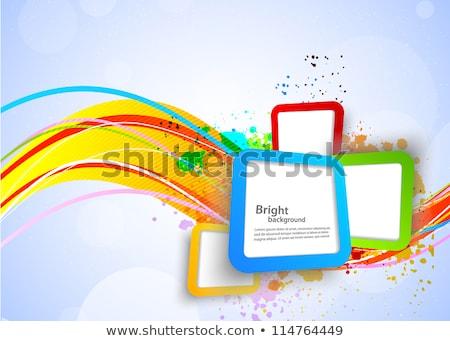 technology abstract stylish beautiful wave colorful background stock photo © bharat